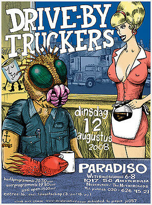 Mint Original 2008 Drive By Truckers Paradiso Amsterdam Show Poster Lamm Jc57