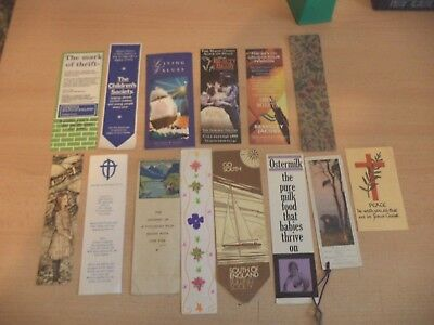 job lot g OLD VINTAGE ANTIQUE BOOKMARK BOOK MARKER ADVERTISING church etc