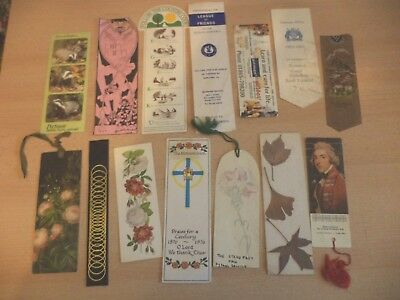 job lot e OLD VINTAGE ANTIQUE BOOKMARK BOOK MARKER ADVERTISING shops banks churc