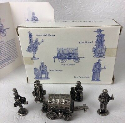 Liberty Falls Americana Collection 5 Pewter Figures Pioneer Wagon AH110 1996