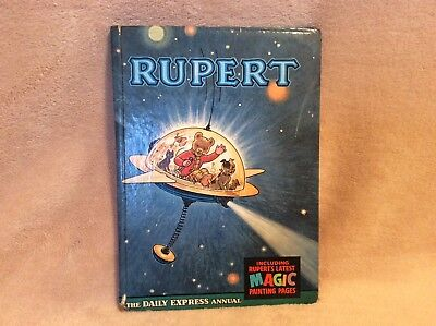 RUPERT ANNUAL Vintage - 1966 Original Book - Price Unclipped 6/-