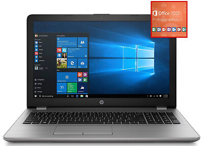 "HP 255 15,6"" HD matt Laptop + WIN10H + OFFICE H&B (E2-9000E 8GB 1TB DVD R2) *NEU"