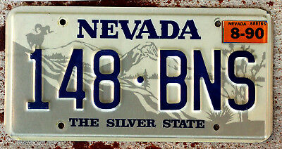 Nevada Ram on Mountain Top with Joshua Tree License Plate with a 1990 Sticker