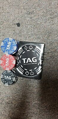 """Tag Body Spray For Men """"deck Of Cards"""" & """" Poker Chips"""""""