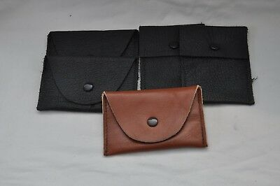 Nice Small Lot of 5 x Various Genuine Leather Coin Purse - Nice Quality Items