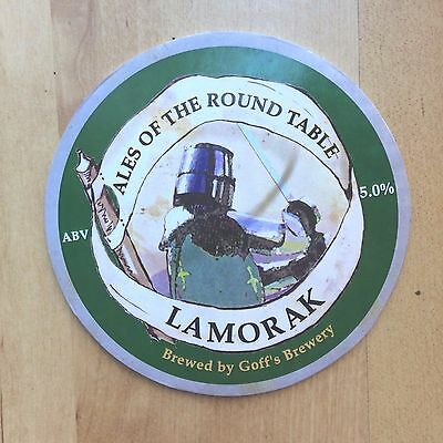 Sir Lamorak Ale Beer Pump Clip: Goffs Brewery: Knight of King Arthur Round Table