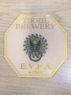 Plush TIRRIL Brewery Real Ale Beer Pump Clip 3D vintage sun lion Eden Valley PA