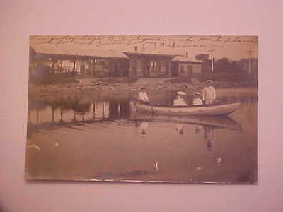 1906 RPPC Wiscasset  Boat Real Photo by Labbie Postcard Maine ME