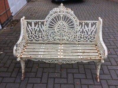 A Pair of Genuine Antique Coalbrookdale Peacock Benches