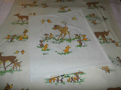 BAMBI Walt Disney Kinder Bettwäsche vintage 80er RehKitz bedding fabric 80s deer