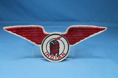 Very Rare! NOS 1930s Indian Motorcycle WInged Jacket Patch