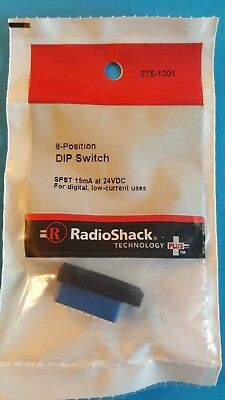 RadioShack SPST 8 Position DIP Switch 2751301 *FREE SHIPPING*