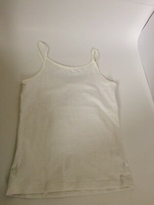 FADED GLORY Girls White Tank Top CAMI Size 7-8