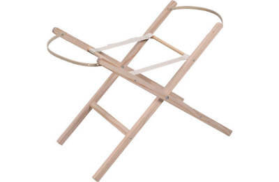 New Clair de Lune Moses Basket Wooden Wood Folding Stand Pine Baby Furniture