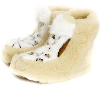 213096cc24df84 Sheepskin Sheep Wool Warm Women's Men Slippers Boots Cozy Foot Indoor  Natural