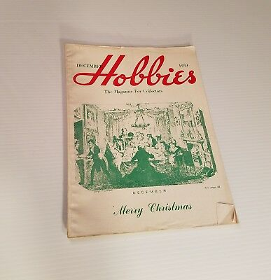 Hobbies the Magazine for Collectors Christmas December 1959 Vintage Advertising