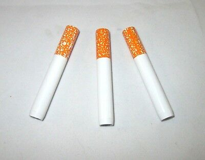 "2"" Cigarette Pipe (3x) One Hitter Tobacco Smoking dugout Metal Bat USA Seller"