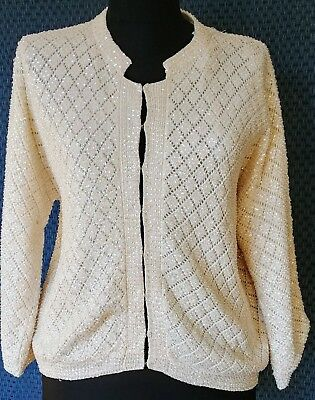 Vintage 1950s Sparkly Cropped Sweater Size L/XL