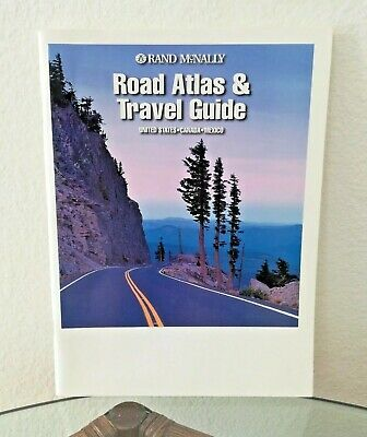 Road Atlas & Travel Guide Map Book USA CANADA MEXICO by Rand McNally Vintage NEW