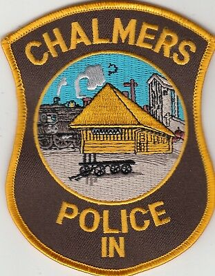 Chalmers Police (Train Scene) Patch Indiana In