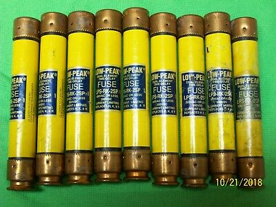 LOT OF 9 BUSSMANN LPS-RK-2SP 2 Amp Fuses Low-Peak 600V