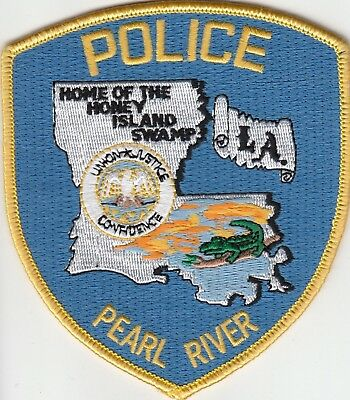 "Pearl River Police ""home Of The Honey Island Swamp"" Louisiana La Patch"
