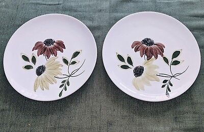 "Pair of BLUE RIDGE Southern Potteries Daisy 9.5"" Plates White"