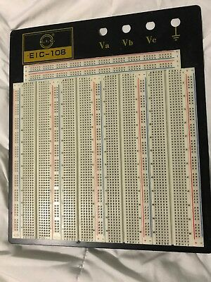E-Call Model EIC - 108  Solderless Breadboard Protoboard e.i.c. 3220 tie points
