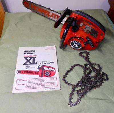 VINTAGE HOMELITE XL CHAINSAW nice condition HOMELITE CHAINSAW VINTAGE  CHAINSAW