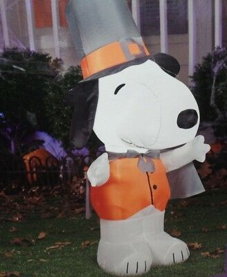 Gemmy Airblown Inflatable 4ft Snoopy Pilgrim Thanksgiving Peanuts USED NO BOX
