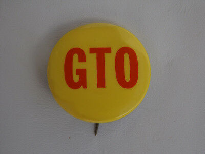 Vintage GTO lapel pin, car, hat tack , tie tack ,yellow and red