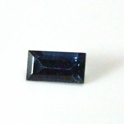 Natural Australian earth-mined blue baguette sapphire..0.18 carat