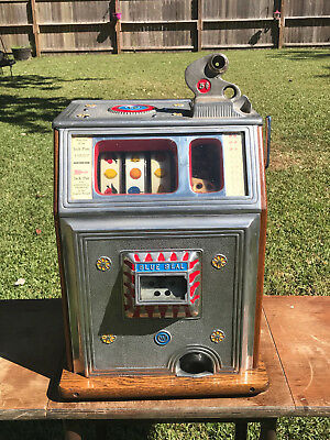Antique 1935 Watling Blue Seal Confections 5 Cent Slot Machine