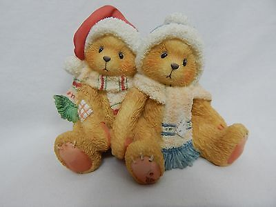 1996 Cherished Teddies Jamie And Ashley Figurine I'm All Wrapped Up In Your Love