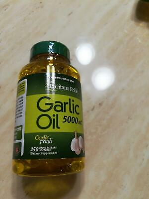 250 GARLIC OIL Pills 5000mg Softgels Capsules - Puritan's Pride
