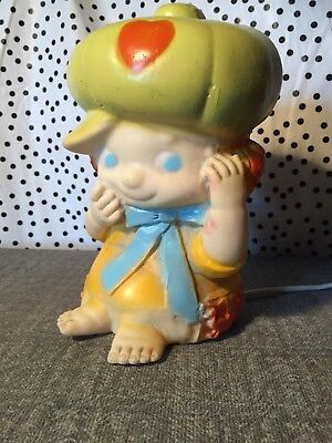 NETTA nightlight Pumpkin Patch Style Girl Pumpkin Hat (1982) made in S.A.