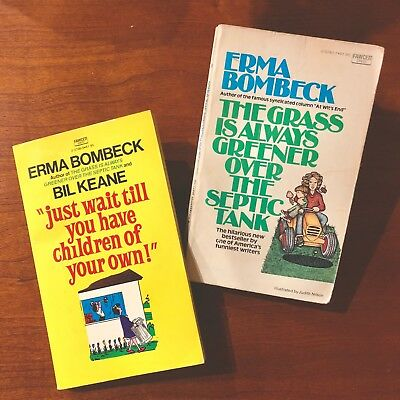 Lot of (2) Vintage Erma Bombeck Paperback Novels Books
