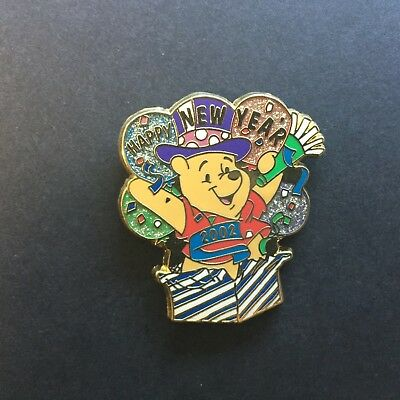 12 Months of Magic - Happy New Year 2002 Winnie the Pooh Disney Pin 8946