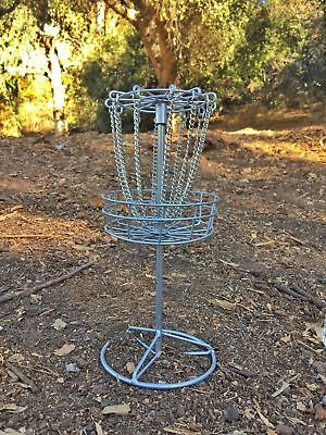 """NEW Table Top 9"""" in Micro DISC GOLF BASKET Bottle Cap Game gift tailgate frisbee"""