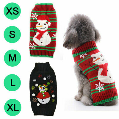 HOT Puppy Pet Dog Cat Clothes Winter Warm Sweater Christmas Costume Pet Supplies