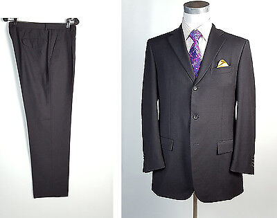 Jil Sander 42R Tailor Made 3 Btn Suit Gray Button Fly Pants 36W 36x32 MADE ITALY