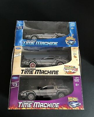 Back to The Future 1-2-3 DeLorean Time Machine Collect All 3!
