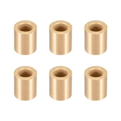 Self-Lubricating Bearing Sleeve, 6mm x 10mm x 12mm Sintered Bronze Bushing 6pcs