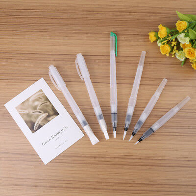 6PCS Refillable Pilot Water Brush Ink Pen For Paint Calligraphy Watercolor AU