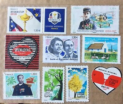 French Postage Stamps used