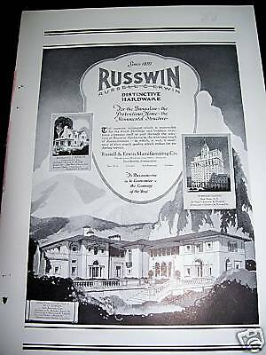 1925 Russwin Hardware Times Building IN CA Homes Ad