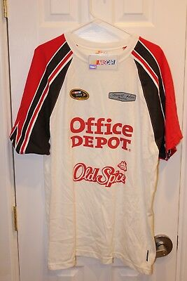 white / red / black Office Depot Tony Stewart two-sided t-shirt (NWT) - adult XL