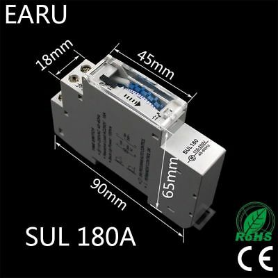 Sul180a 15 Minutes Mechanical Timer 24 Hours Programmable Din Rail Timer Time