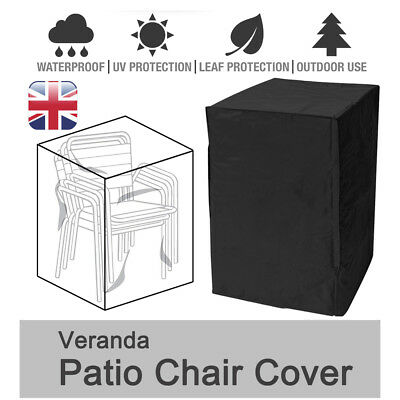 Patio Stacking Rattan Chair Chairs Furniture Waterproof Cover Outdoor Garden LGB