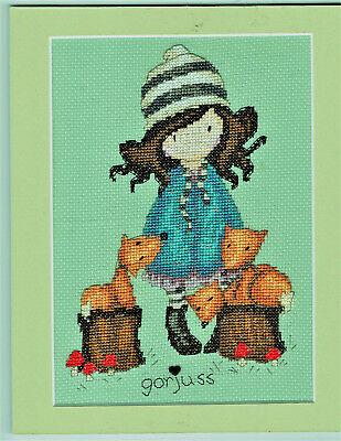 REDUCED!! Gorjuss The Foxes Finished / Completed Counted Cross Stitch Picture